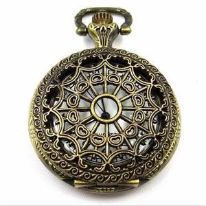 a1609998558 Mini relógio bolso teia aranha vintage arabescos