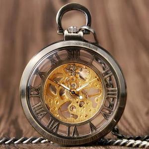 0d154afb946 Relógio antigo de bolso a corda pesado corrente presente em Brasil ...