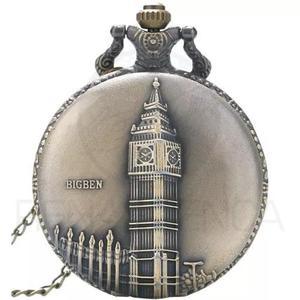 Relógio de bolso big ben inglaterra quartzo retro vintage