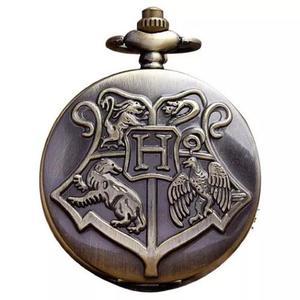 Relógio de bolso harry potter hogwarts com corrente 30cm