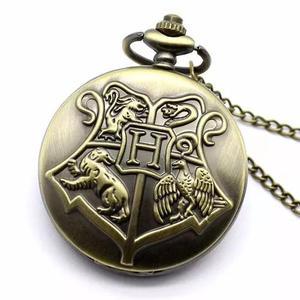 Relógio de bolso harry potter hogwarts pronta entrega