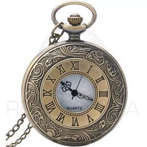 Relógio de bolso roman vintage retro clássico quartzo
