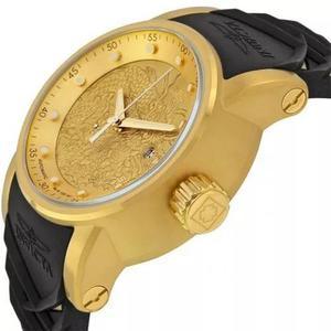Relógio dourado s1 dragon c/ caixa a prova d'água original