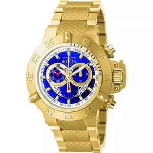 Relógio invicta subaqua 5404 cronografo plaque ouro