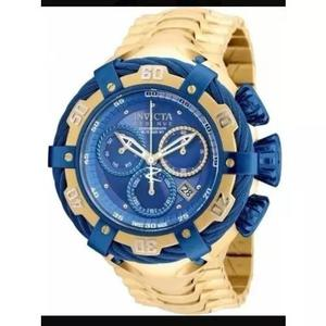 Relógio invicta thunderbolt dourado/azul