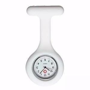 Relógio lapela silicone enfermeiras branco pronta entrega