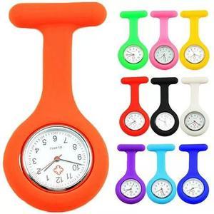 Relógio lapela silicone enfermeiras cores pronta entrega