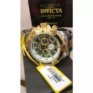 Relógio masculino invicta pro diver plaque ouro 25093