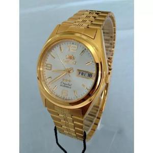 Relógio orient automático clássico plaque ouro fab04001w9 em Brasil ... 9e3d126b66