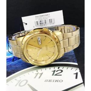 a80fe2c630a Relógio seiko automático clássico plaque ouro snke56k1