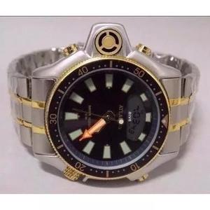 2310f923fd8 Relogio atlantis serie ouro aqualand aço grande 55mm