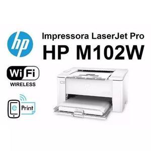 Impressora hp laser wi-fi m102w 220v+ 2 cargas