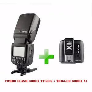 Kit flash godox tt685s + radio flash godox x1t-s(avulso)