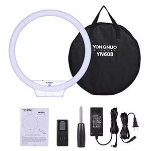 Ring light youngnuo yn 608 completo +tripe 1,60m reclinavel