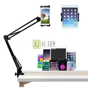 Suporte flexível,articulado p/mesas-uso p/tablets,celulares