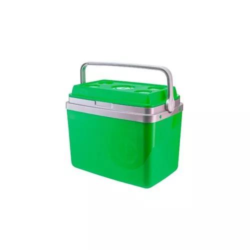 Caixa térmica 32 litros verde com alça - black friday