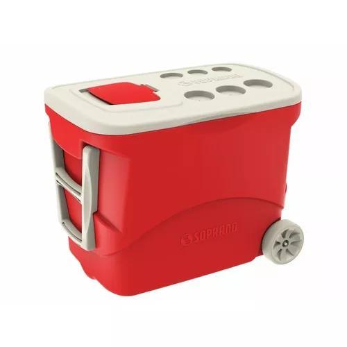 Caixa térmica 50 l c/ rodinha camping, pesca, cooler