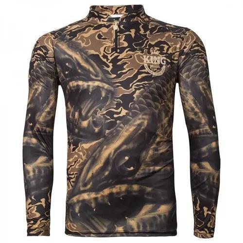 Camiseta de pesca king proteção solar uv viking 04 -