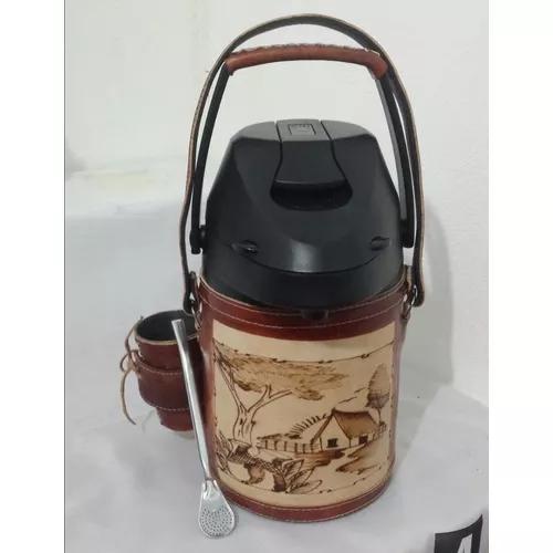 Garrafa térmica tereré + copo + bomba - 2,5 litros