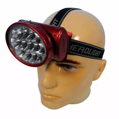 Kit 10 lanterna de cabeça recarregável bivolt 13 9 leds