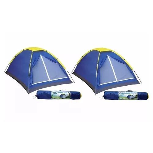 Kit 2 barracas camping iglu 3 pessoas mor acampamento