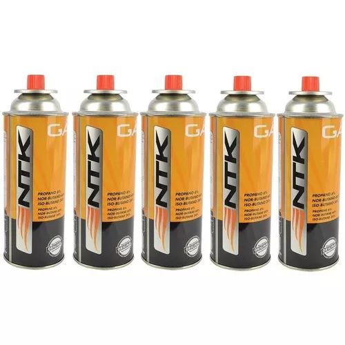 Kit com 5 latas refil gás butano com 227g.