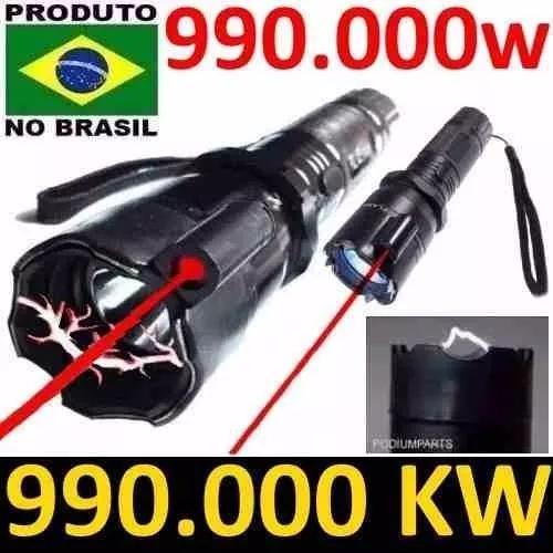 Lanterna choque tática 990000kv recarregavel 990.000w