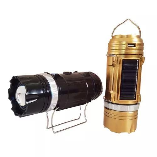 Lanterna com lampiao solar + zoom alcance de 500 metros