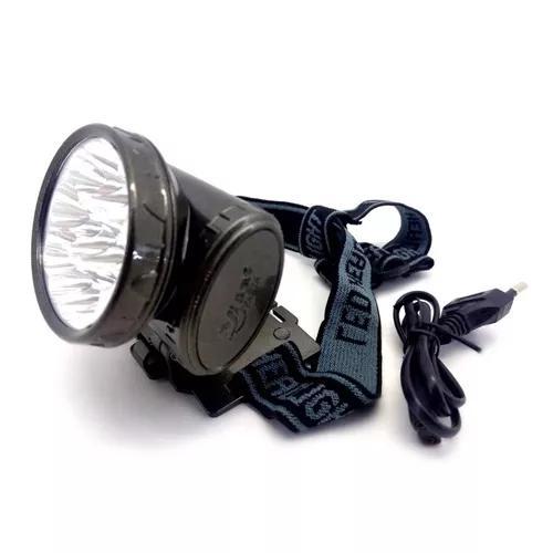 Lanterna De Cabeça 13 Led 22000 Lumens Led Q3 Recarregável