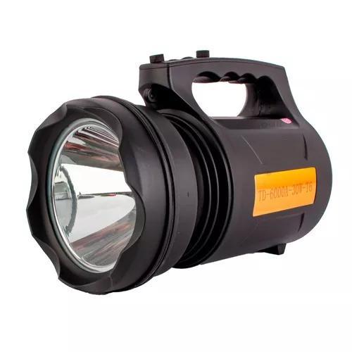 Lanterna holofote led t6 lumens tatica led recarregável 30w