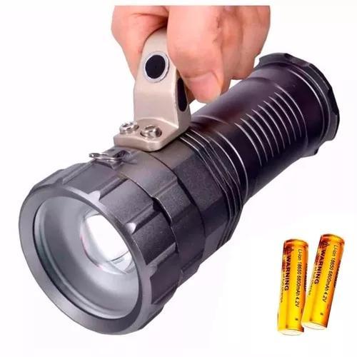 Lanterna tática holofote alça mão led t6 ultra potente