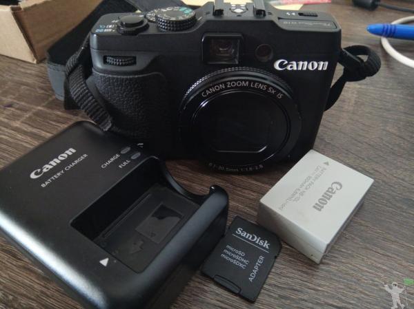 Power shot canon g16 wifi + cartão 16gb