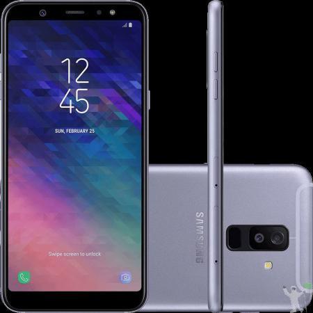Smartphone samsung galaxy a6+ dual chip android 8 prata novo