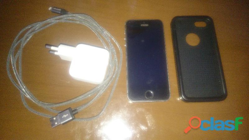 Iphone 5s 16gb + cabo de aço 2.5mts + carregador original