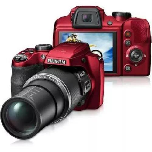 Camera fotografica fujifilm finepix s8200 vermelha zoom 40x
