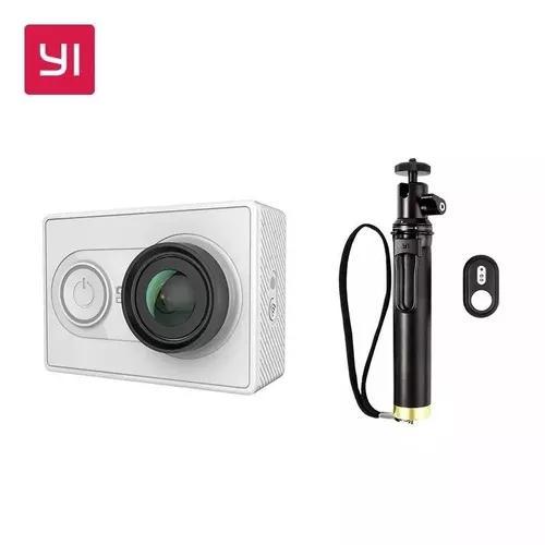 Camera xiaomi yi 2k de ação com bastão de selfie original