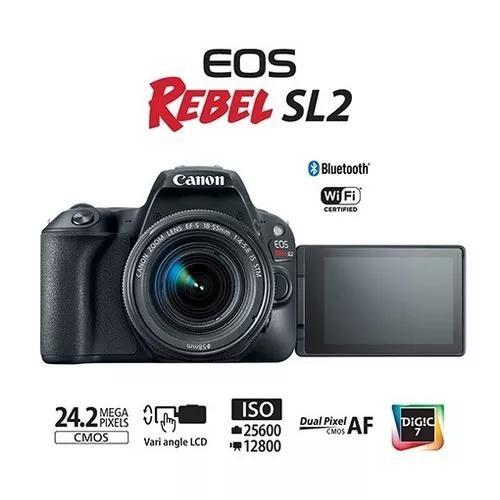 Canon eos rebel sl2 garantia br ef-s 18-55mm stm