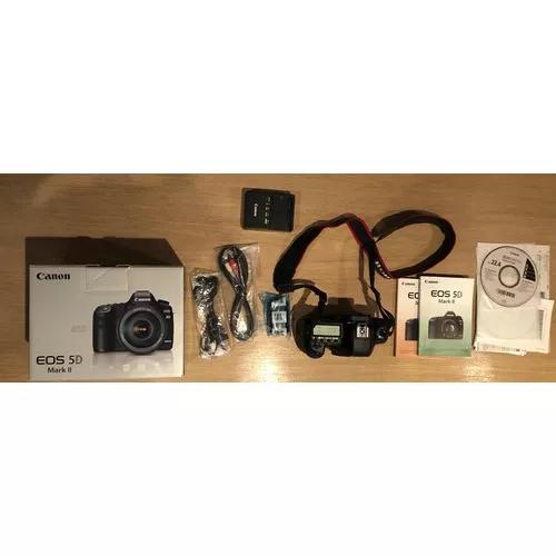 Câmera digital canon eos 5d mark ii + grip bg-e6 5000 cliks