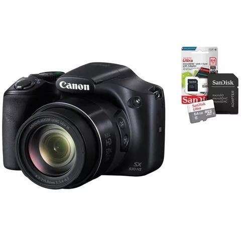 Câmera digital canon powershot sx530 hs+ cartão sandisk