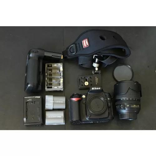 Câmera digital dslr nikon d90 com lente 18-105mm vr