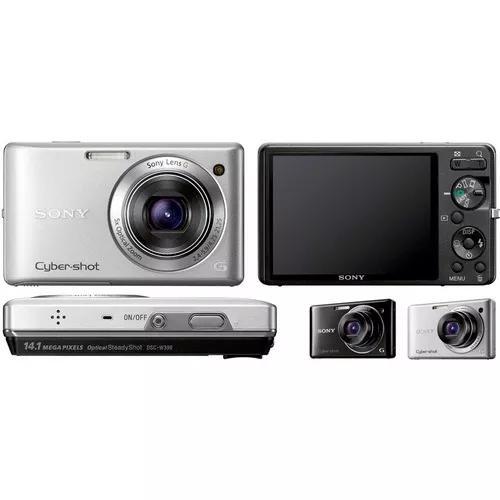 Câmera digital sony dsc-w390 14.1mp 2.7 5x zoom tela 3´