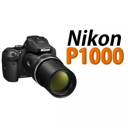 Câmera nikon coolpix p1000 125x wifi preta +32gb + bolsa