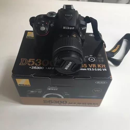 Câmera nikon d5300 lente af-p 18-55 mm na caixa!
