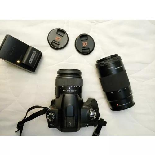 Câmera sony alpha 230 com teleobjetiva 300mm +tripé