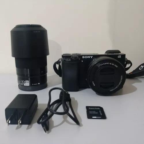 Câmera sony alpha a6000 lente 16-50mm e 55-210mm s