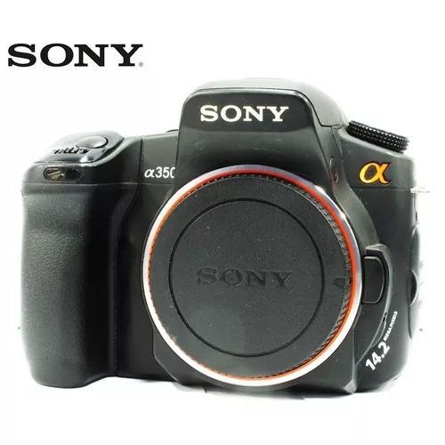 Câmera sony dslr modelo a350 14.2mp - só o corpo + cf 4gb