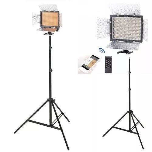Iluminador led yongnuo yn-300 iii+f970+carreg+fonte+tripé