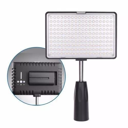 Iluminador led160 completo c/ bateria f550 + carregador