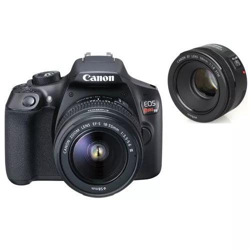 Kit câmera canon t6 18-55 + ef 50mm f/1.8 stm canon brasil