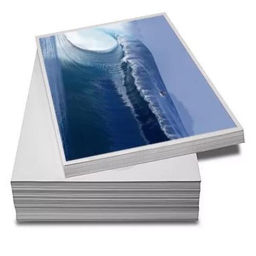 100 folhas papel fotográfico adesivo a4 115g promoção